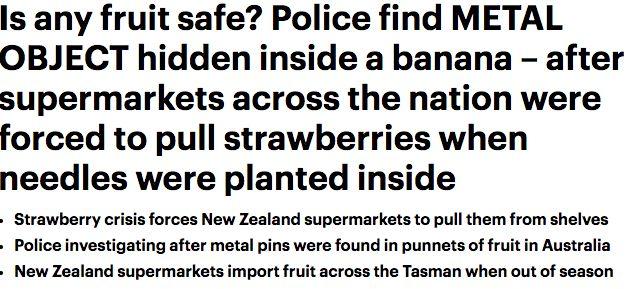 澳洲藏针水果或是背包客所为?草莓逐渐下架 边防部门都来调查了!