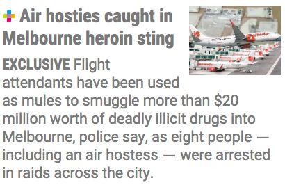 8名空乘从海外往墨尔本运毒数年 被抓前坐拥豪宅豪车、百万现金和千万毒品!