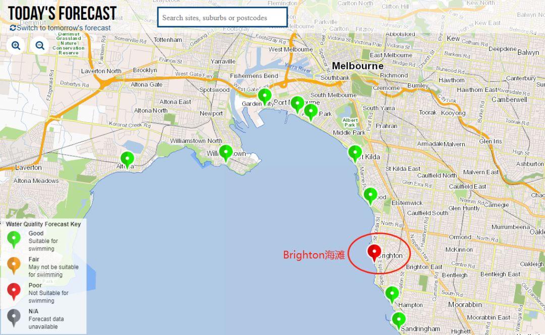 紧急通知!墨尔本Brighton海滩被严重污染 水中发现致命细菌