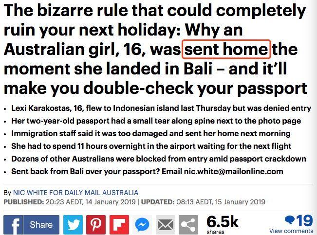 16岁澳洲女孩出国 被关11小时、罚7000后遣返!